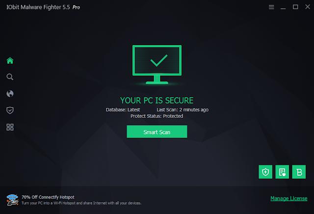 IObit Malware Fighter Pro 8.6.0.793 Crack + License Key