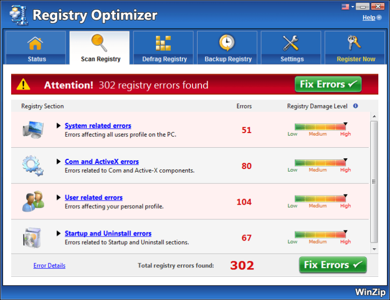 WinZip Registry Optimizer 4.22.2.22 Crack With License Key