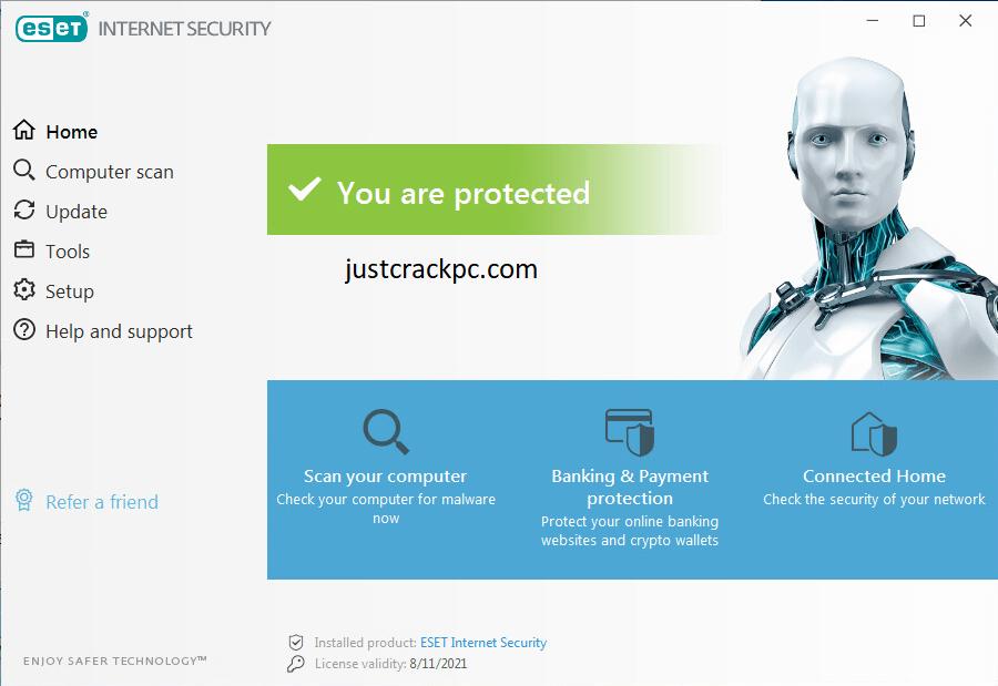 ESET Internet Security 14.1.20.0 Crack + License Key 2021