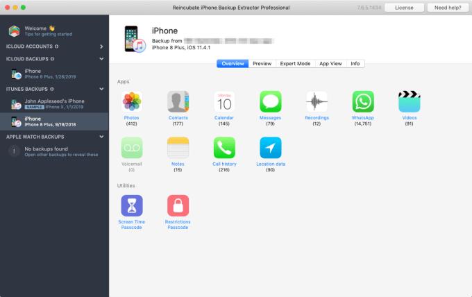 iPhone Backup Extractor 7.7.32.4142 Crack + Keygen [Latest Version]